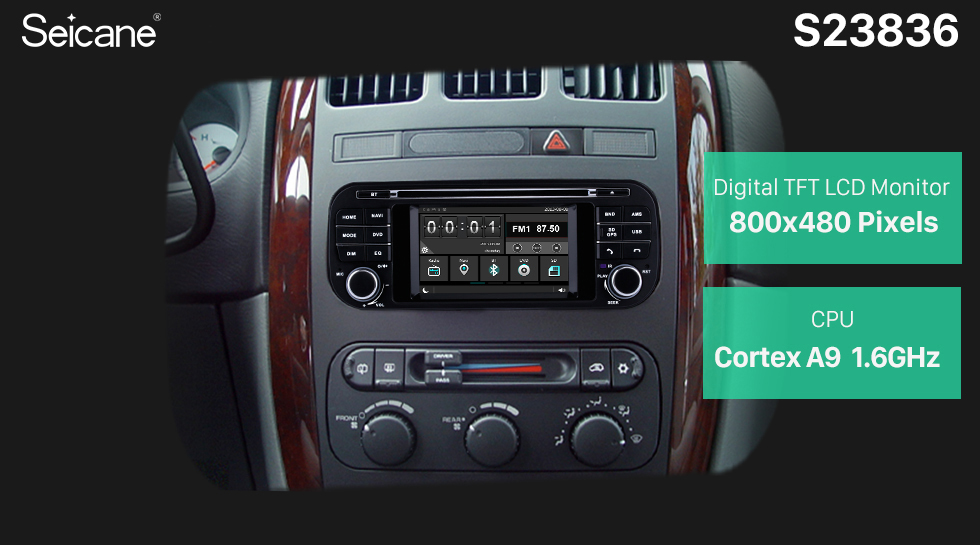 Seicane 2002-2007 Dodge Dakota P/U Durango Touch Screen DVD Player Radio GPS Navigation System With Bluetooth TPMS DVR OBD Mirror Link Rearview Camera 3G WiFi TV Video