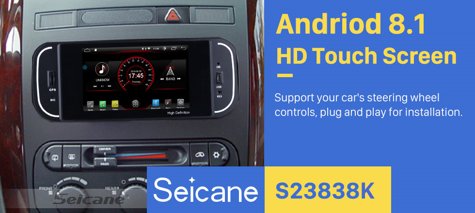 Seicane Android 8.1 HD Touchscrenn Car Radio Head Unit For 2001-2007 Chrysler 300M PT Cruiser Sebring Concorde Grand Voyager Town & Country GPS Navigation Bluetooth Support Rearview Camera Steering Wheel Control USB SD WIFI Mirror Link OBD2 Aux