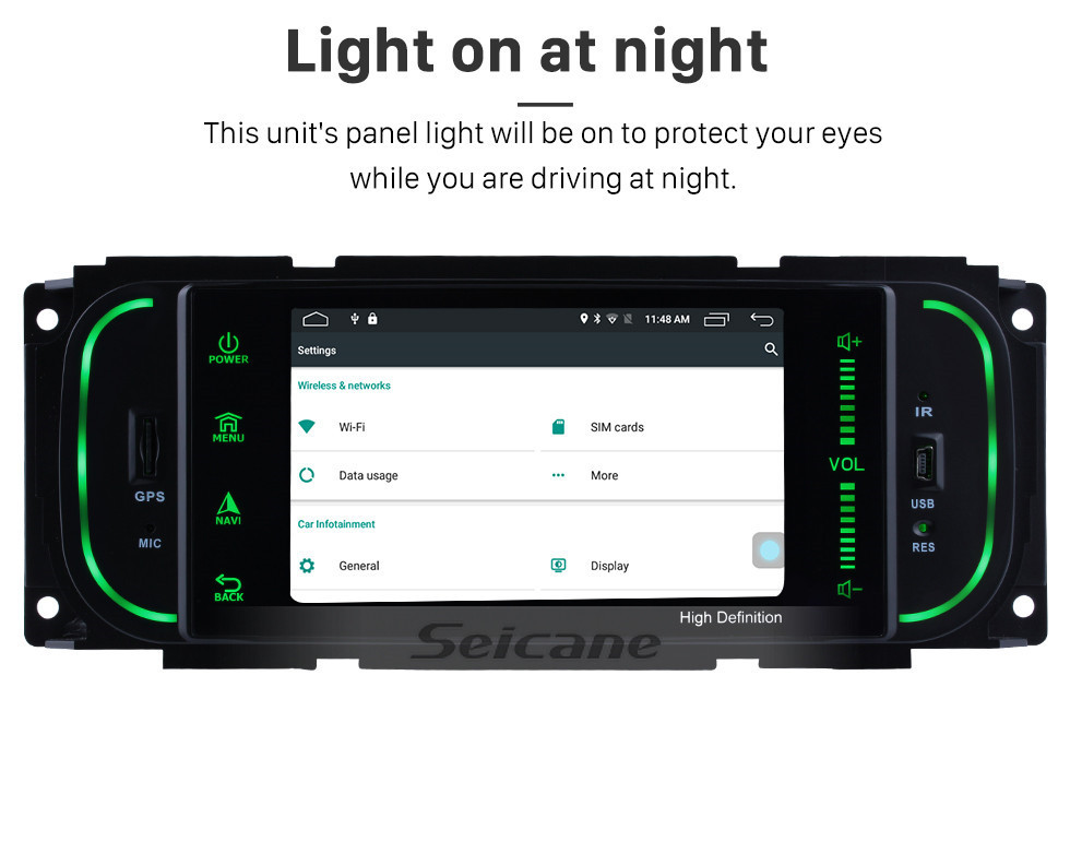 Seicane Android 8.1 Raido for 2002 2003 2004 CHRYSLER Concorde GPS Navigation System with Mirror link TouchScreen WIFI OBD2 Bluetooth Rearview Camera USB SD Steering Wheel Control