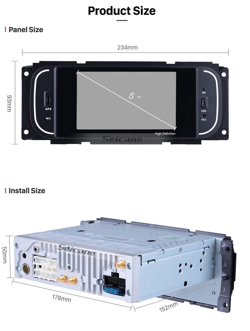 Seicane 2002 2003 Dodge Durango Android 8.1 TouchScreen Radio GPS Navigation system with Bluetooth 3G WIFI DVR TV OBD2 Mirror link Digital TV