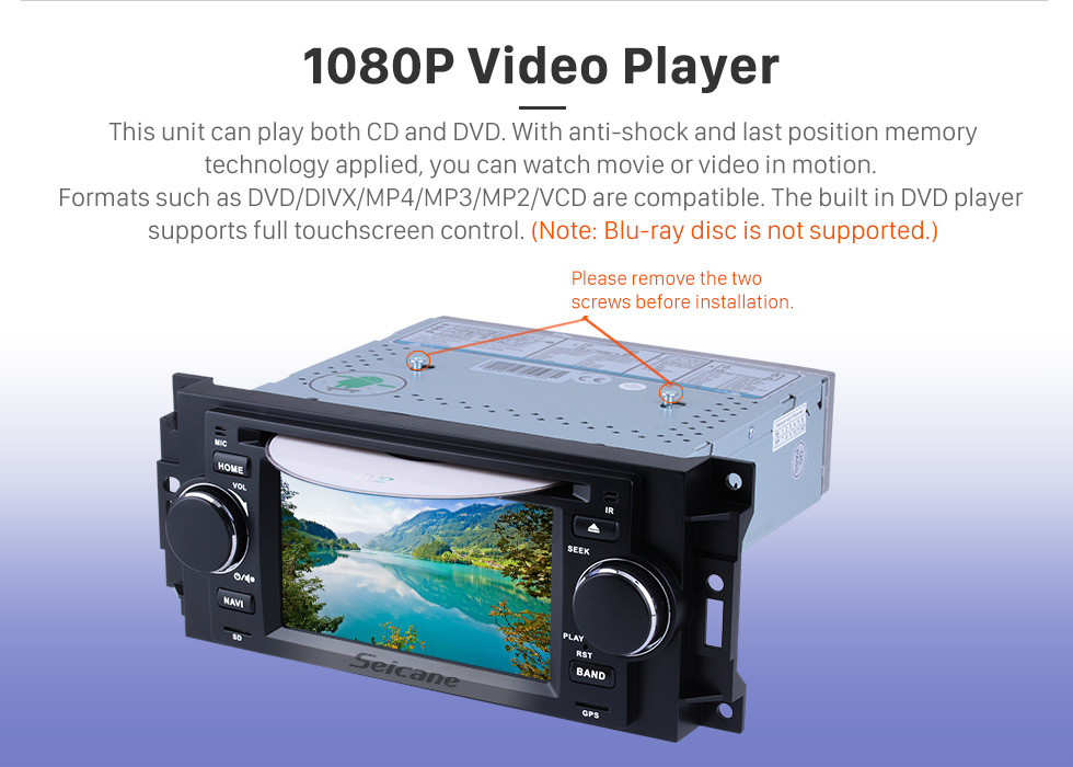 Seicane Aftermarket Android 8.1 DVD Player GPS Navigation system for 2002-2007 Dodge Durango Dakota P/U with OBD2 Bluetooth Radio Mirror link Touch Screen DVR Backup camera TV USB SD 1080P Video WIFI Steering Wheel control