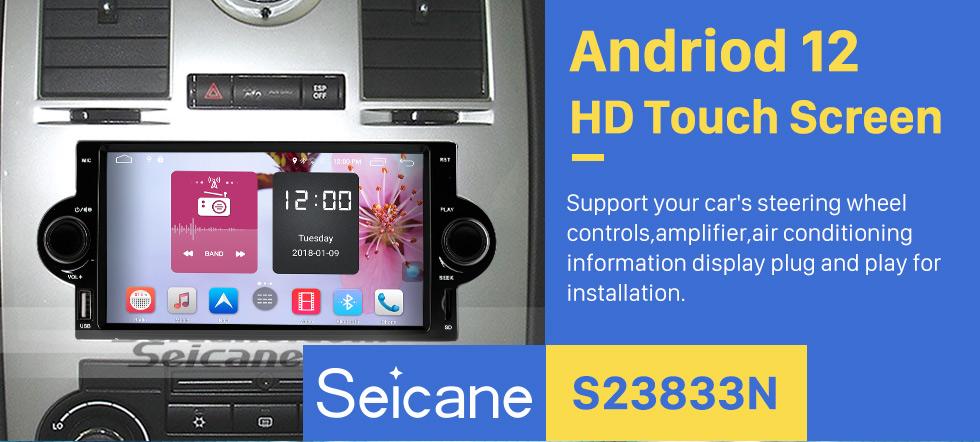 Seicane Nachrüst Android 8.1 DVD Player GPS Navigationssystem für 2002-2007 Dodge Durango Dakota P/U mit OBD2 Bluetooth Radio Spiegel-Verbindung Touch Screen DVR Backup kamera TV USB SD 1080P Video WIFI Lenkrad-Steuerung