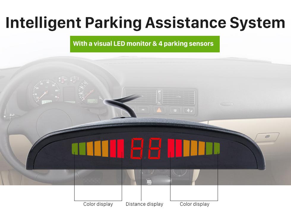 Intelligent Parking Assistance System Car Universal Parking Assistance System Reverse Sensor with Visual LED Monitor 4 Parking Sensor Reversing System