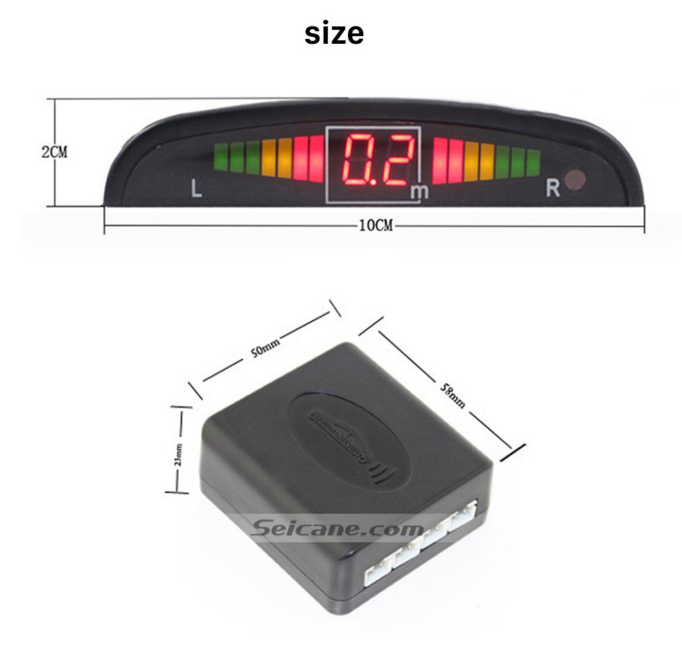 Seicane Wireless LED Display Parking Sensor Sensors Auto Car Reverse Assistance Backup Radar Monitor System rader + 4 Free Shipping