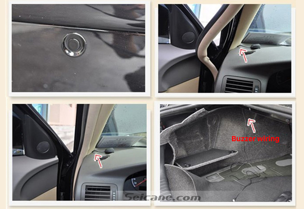 Seicane Seicane Dual Core CPU Car Rearview Parking Sensor Detector Video Radar System Rear View Camera Monitor for Universal Car