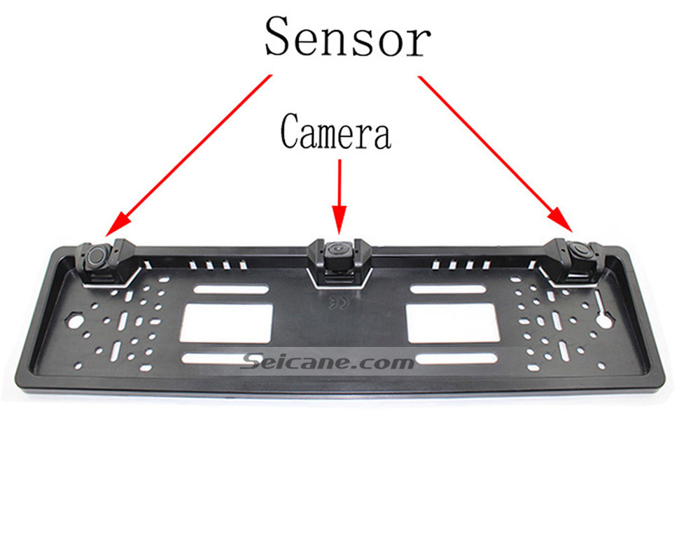 Seicane New Arrival Two Reversing Radar Car Reversing Rear/Front View Camera Parking European License Plate Frame Buzzer