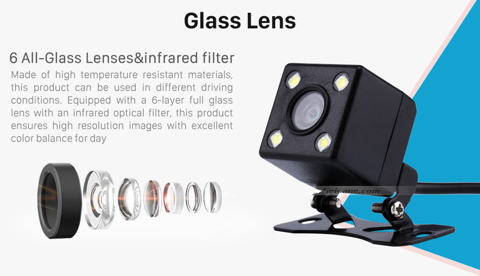 Seicane Seicane Hot Selling HD High definition 170 Degree Wide Angle Vision for Parking Car Reverse Rear View Backup Camera