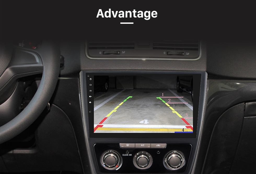 Advantage Wide Angle Vision 170 Degree Large Lens Waterproof RearView Camera with Night Vision 360 Degree No-dead Rotation Backup Camera