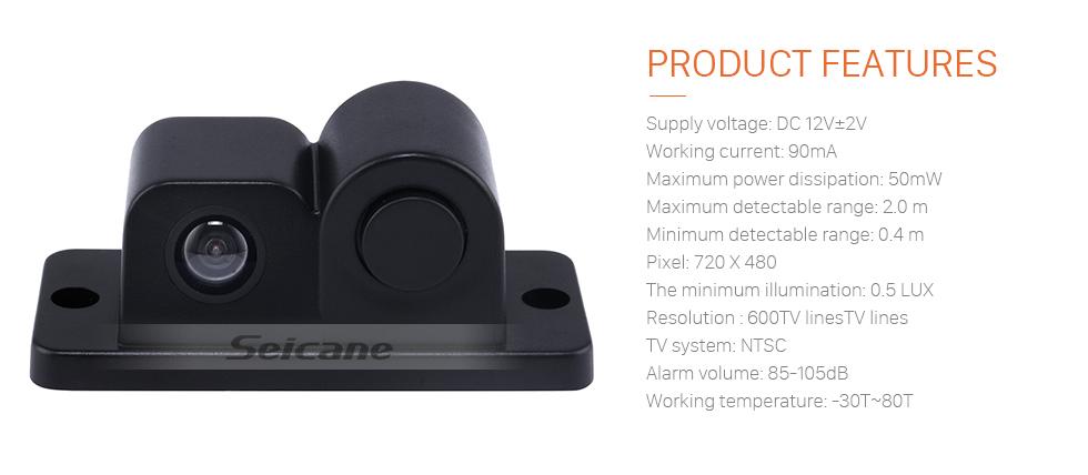 Seicane  2 in 1 170 degree Car Parking Sensors High Clear Night Vision Reversing Radar Car Rear View Backup Camera Car