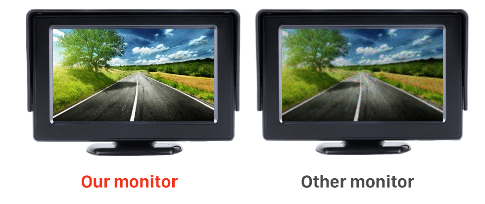 Seicane 4.3 Inch HD Digtal TFT LCD Monitor Display with Backup RearView Camera Reverse Parking Assistance System