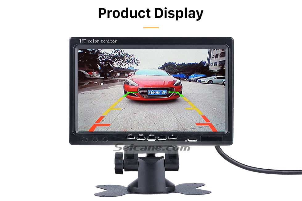 Seicane Universal 7 inch HD 1024*600 TFT LCD Car Auto Parking Monitor Backup Rearview Camera Digital Video Recoder DVR Reverse System