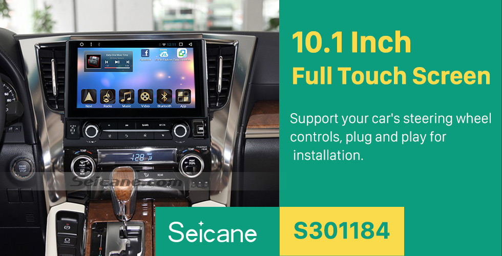 Seicane 2015 TOYOTA Alphard  10.1 inch Touchscreen Android 6.0 Radio GPS Navigation System with Bluetooth Music Mirror Link WIFI Steering Wheel Control 16G Flash Quad-core CPU