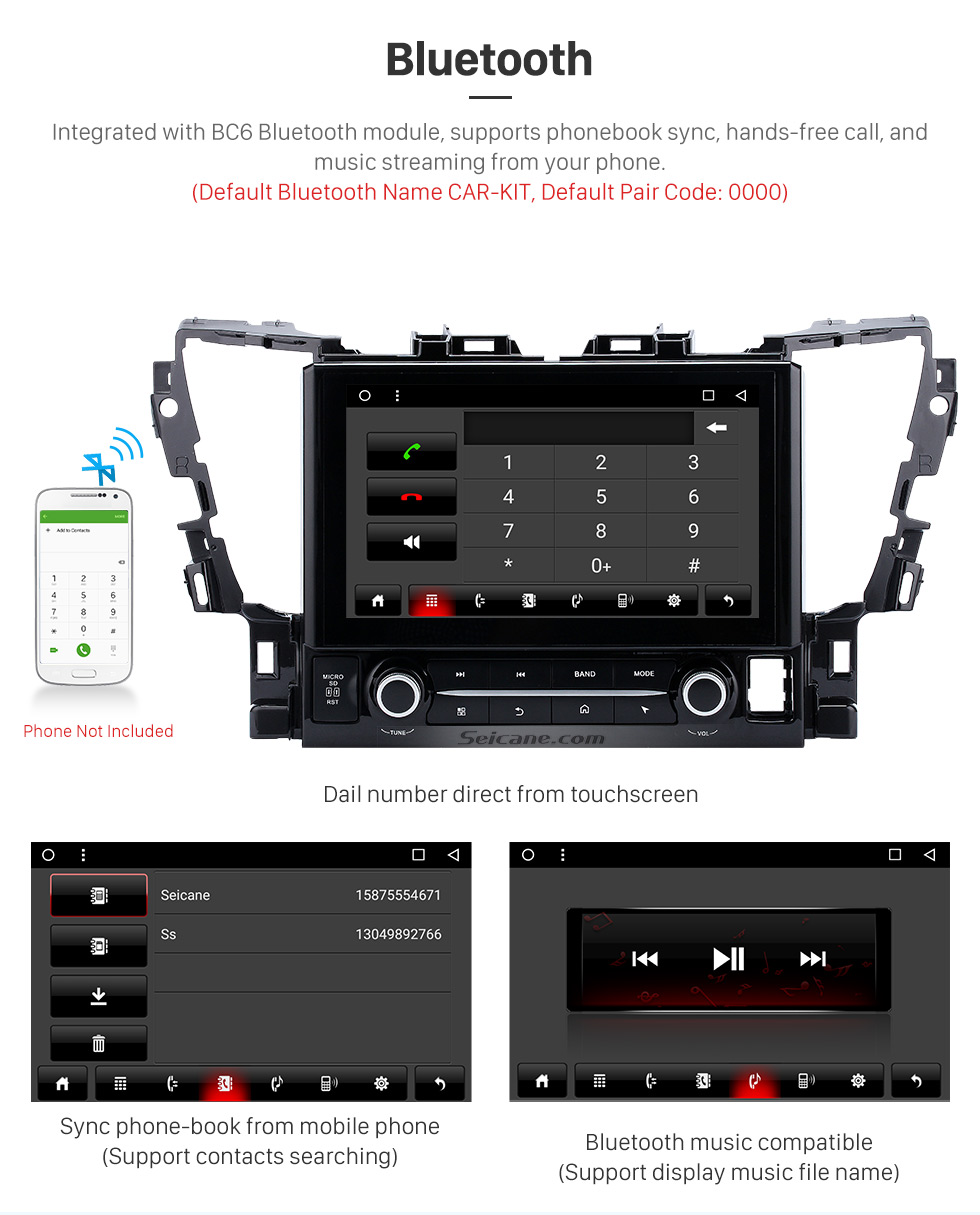 Bluetooth 2015 TOYOTA Alphard  10.1 inch Touchscreen Android 6.0 Radio GPS Navigation System with Bluetooth Music Mirror Link WIFI Steering Wheel Control 16G Flash Quad-core CPU