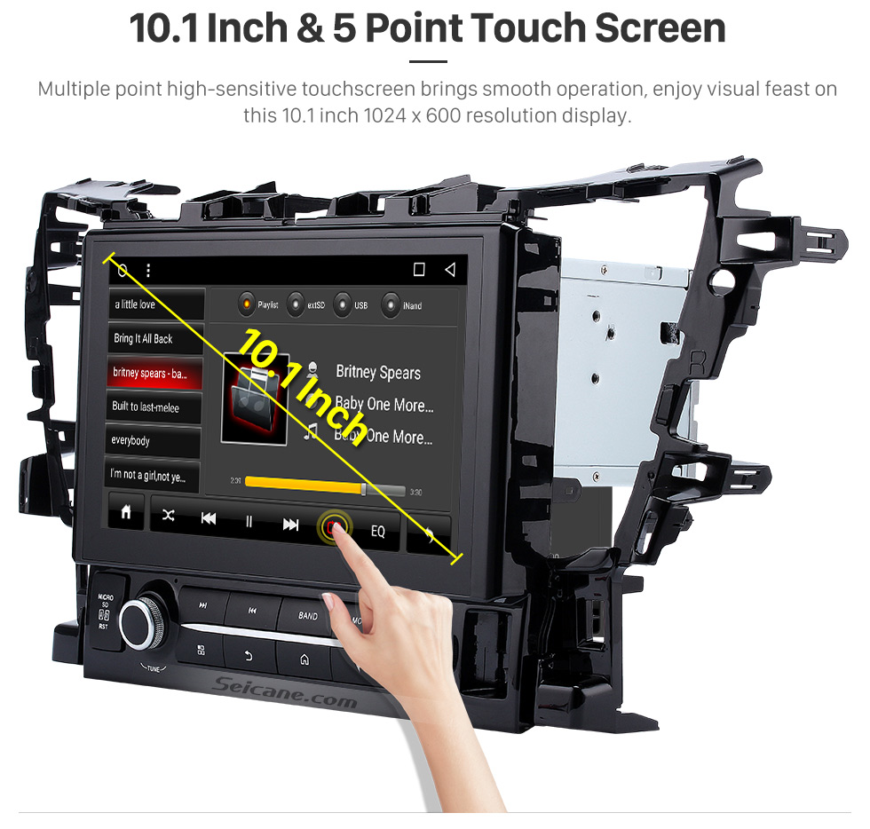 10.1 Inch &5 Point Touch Screen 2015 TOYOTA Alphard  10.1 inch Touchscreen Android 6.0 Radio GPS Navigation System with Bluetooth Music Mirror Link WIFI Steering Wheel Control 16G Flash Quad-core CPU