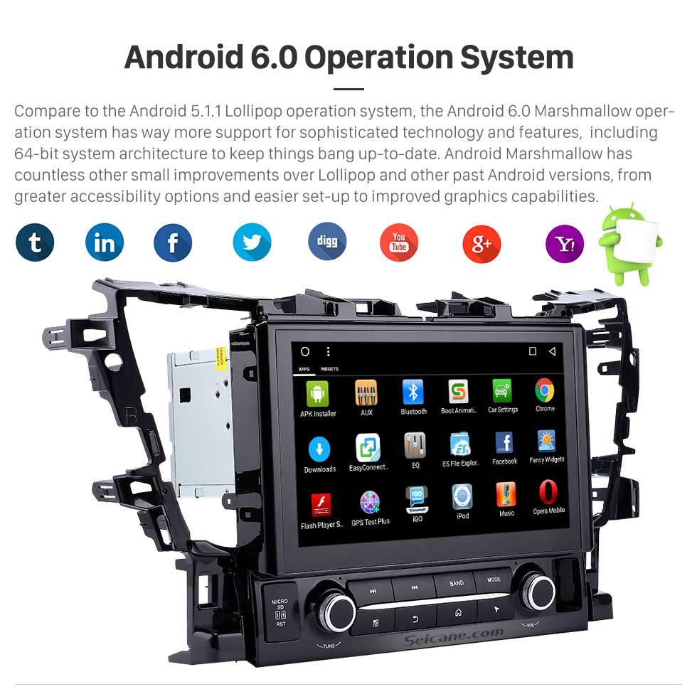 Android 5.0.1 Operation System 2015 TOYOTA Alphard  10.1 inch Touchscreen Android 6.0 Radio GPS Navigation System with Bluetooth Music Mirror Link WIFI Steering Wheel Control 16G Flash Quad-core CPU