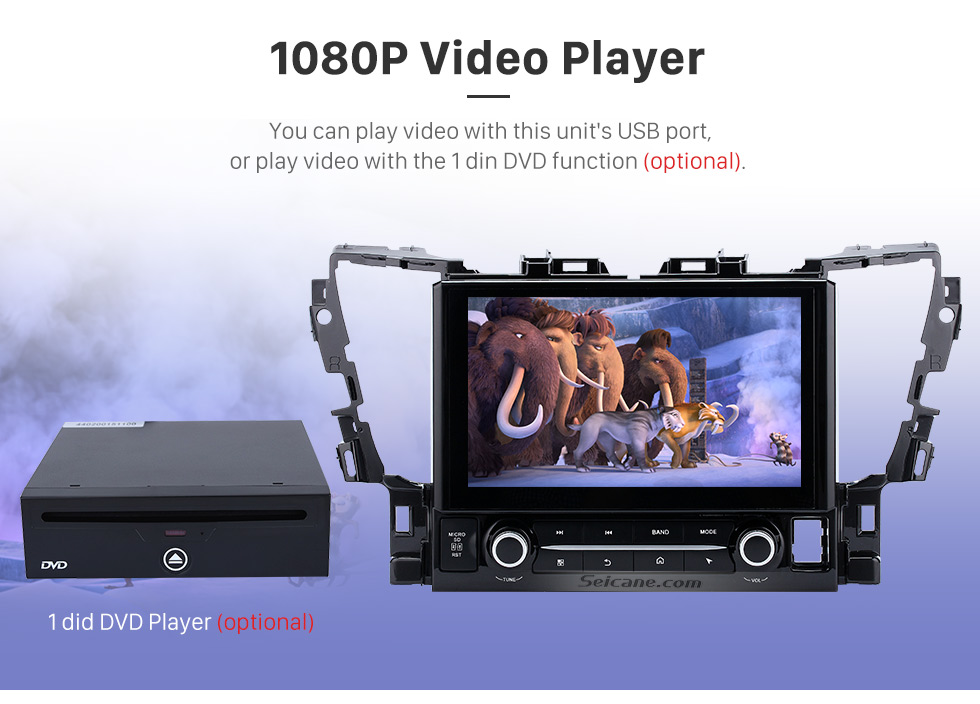 1080P DVD Player 2015 TOYOTA Alphard  10.1 inch Touchscreen Android 6.0 Radio GPS Navigation System with Bluetooth Music Mirror Link WIFI Steering Wheel Control 16G Flash Quad-core CPU