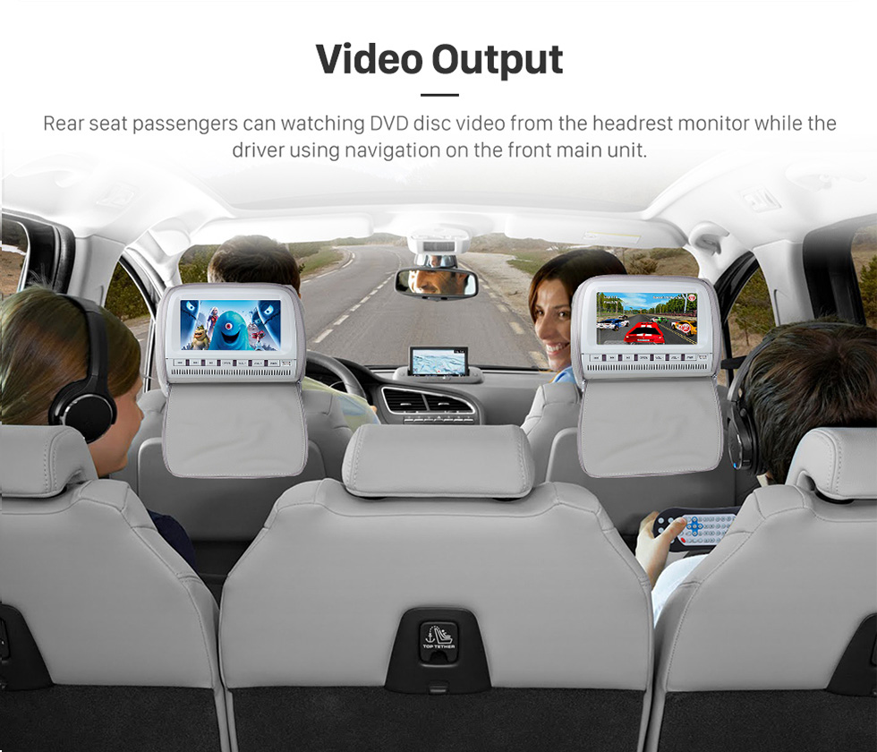 Video Output 2015 TOYOTA Alphard  10.1 inch Touchscreen Android 6.0 Radio GPS Navigation System with Bluetooth Music Mirror Link WIFI Steering Wheel Control 16G Flash Quad-core CPU