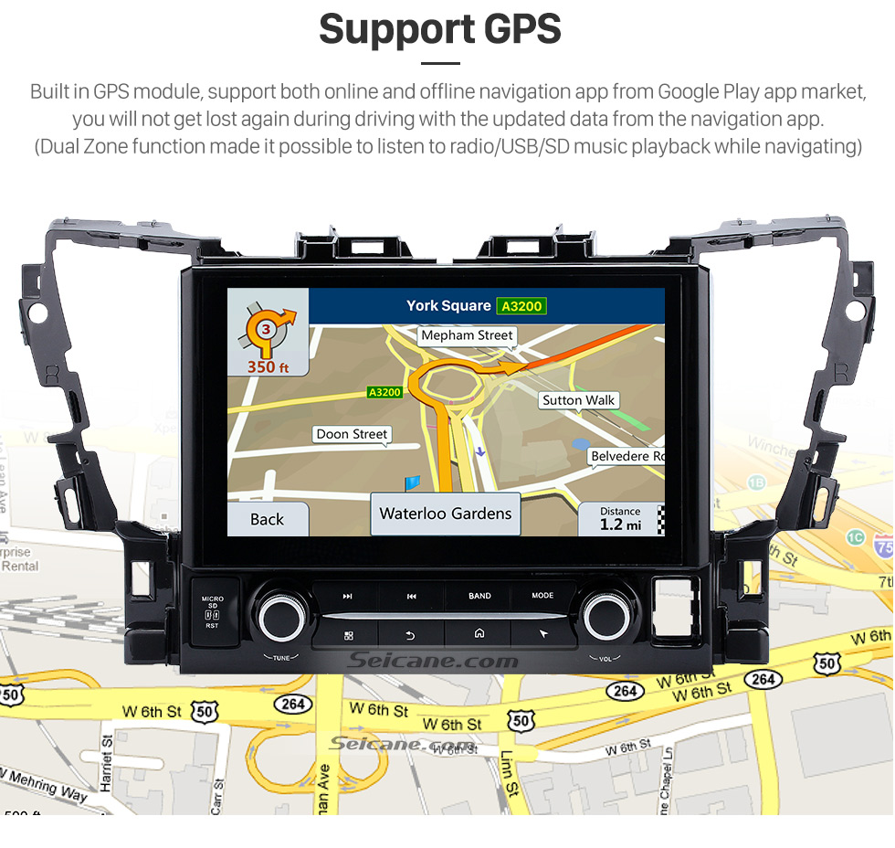 Support GPS 2015 TOYOTA Alphard  10.1 inch Touchscreen Android 6.0 Radio GPS Navigation System with Bluetooth Music Mirror Link WIFI Steering Wheel Control 16G Flash Quad-core CPU