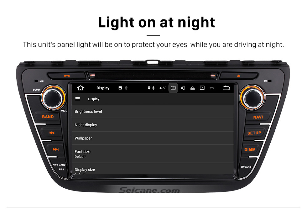 Seicane 8 inch 2013 2014 2015 Suzuki S-Cross SX4 Android 8.0  Radio DVD GPS navigation system with HD 1024*600 touch screen Bluetooth OBD2 DVR Rearview camera TV 1080P Video 3G WIFI Steering Wheel Control Mirror link