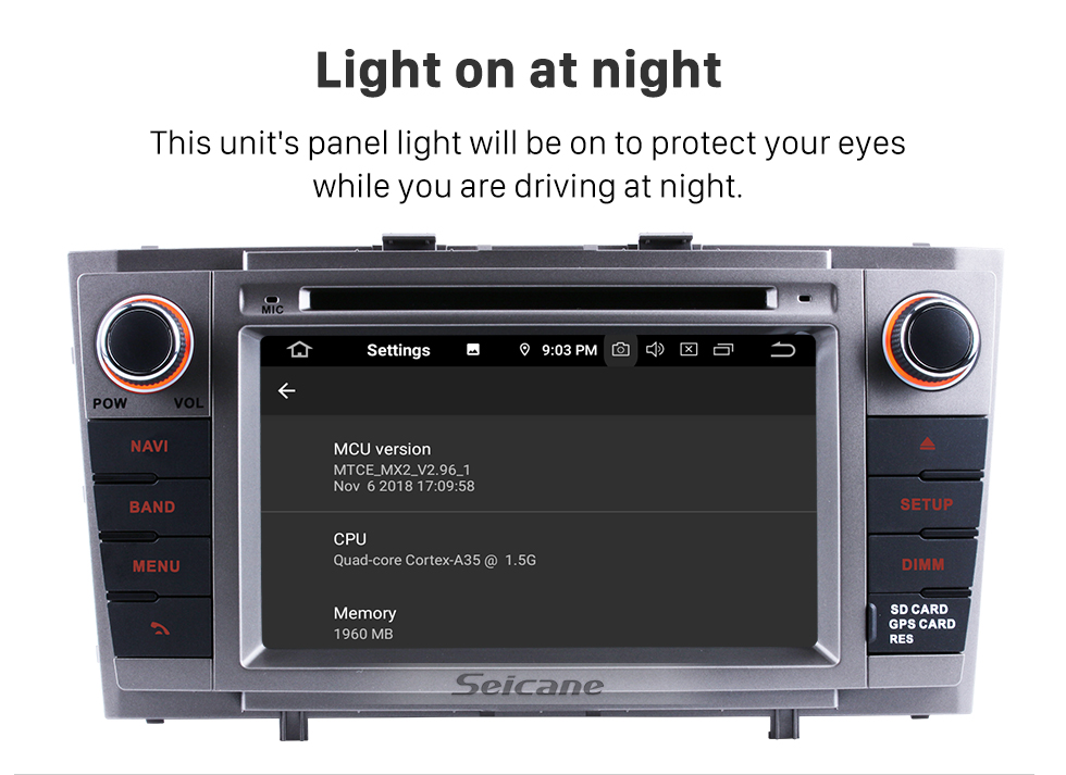 Seicane 2 Din DVD Player GPS Navigation Android 9.0 Radio for 2008 2009 2010-2013 Toyota Avensis Support DVR Rearview Camera Bluetooth 1080P USB SD WIFI OBD2 Mirror Link