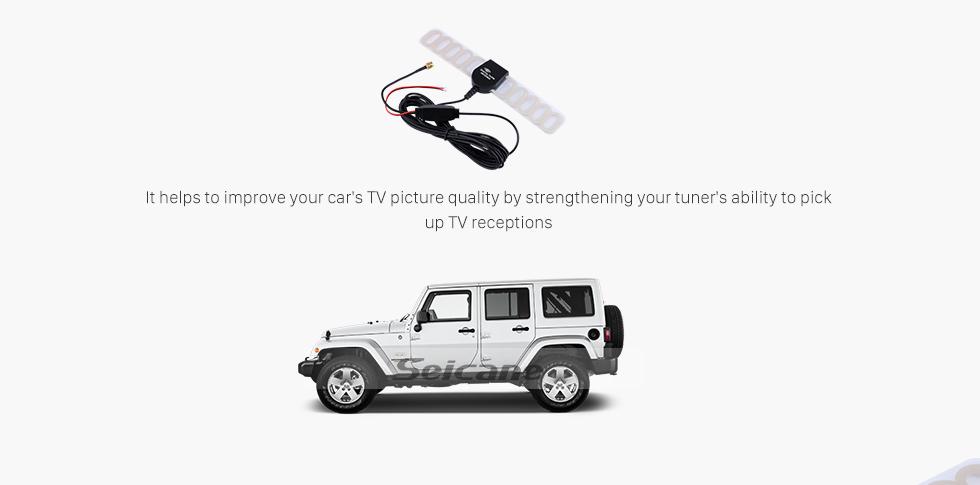 Seicane Hot Sale Car TV Digital DVB-T 2in1 FM/Radio Antenna Aerial Booster SMA Connector