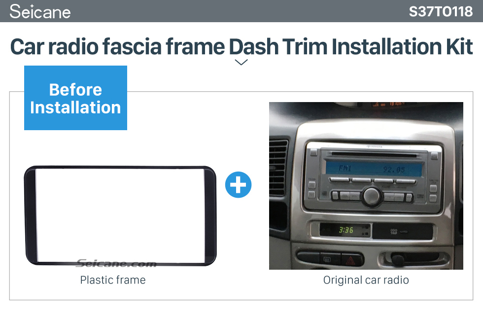 Seicane 178*100mm 2 Din 2006 Toyota Camry Vios Corolla Wish Altis 4500 Car Radio Fascia Audio Player Panel Plate Stereo Install Frame
