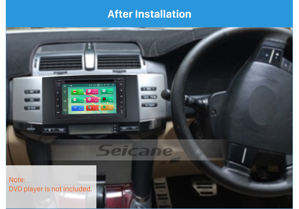 Seicane 173*98mm Double Din 2005-2009 Toyota Reiz Mark X Car Radio Fascia Auto stereo DVD Frame In Dash Mount Kit