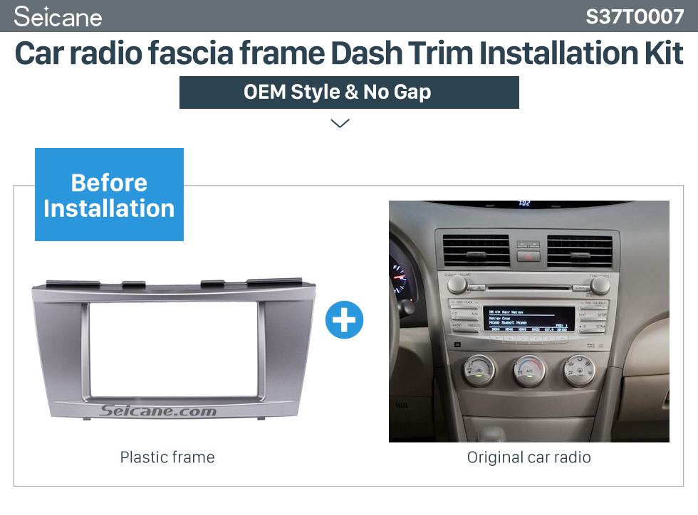 Car radio fascia frame Dash Trim Installation Kit 173*98mm Double Din Car Radio Fascia for 2006-2011 Toyota Camry Audio Cover Frame Installation Kit Face Plate