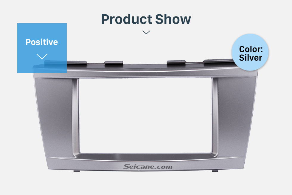 Product Show 173*98mm Double Din Car Radio Fascia for 2006-2011 Toyota Camry Audio Cover Frame Installation Kit Face Plate