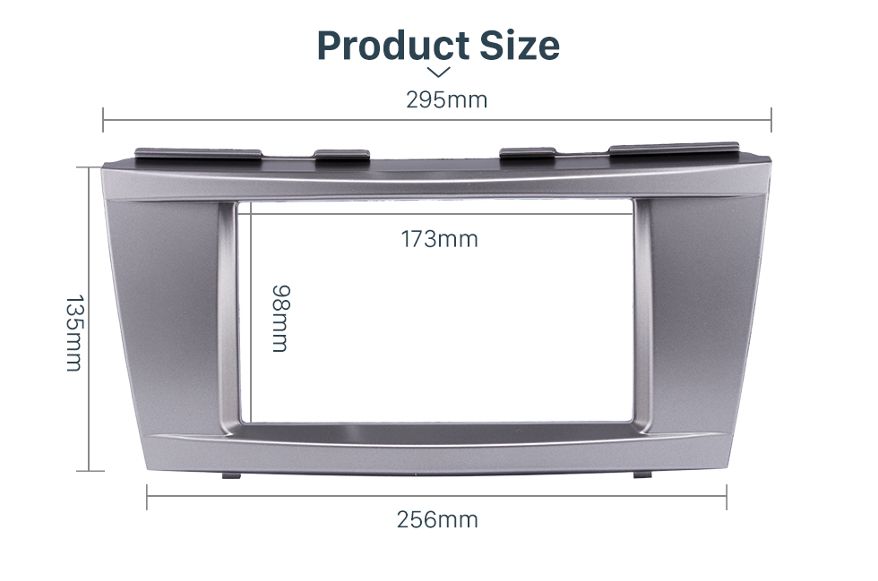 Product Sizel 173*98mm Double Din Car Radio Fascia for 2006-2011 Toyota Camry Audio Cover Frame Installation Kit Face Plate