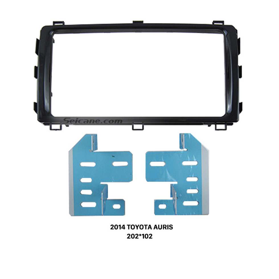 Seicane Ideal Double 2 Din 2014 TOYOTA AURIS Car Radio Fascia Stereo Install Face Plate Panel Surround Panel