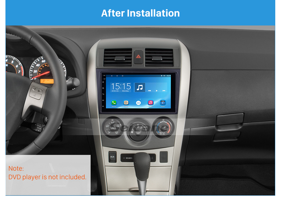 Seicane 173*98 Wonderful Double Din 2007 Toyota Crown Car Radio Fascia Stereo Frame Install Dash Mount Kit Face Plate