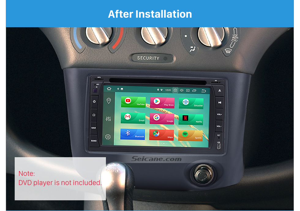 Seicane Nicest Double Din 1999-2005 Toyota Vitz Yaris Echo Car Radio Fascia Install Frame Dash CD DVD panel