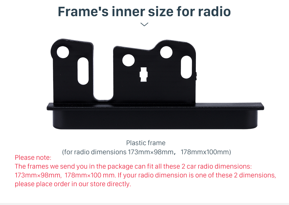 Frame's inner size for radio Classic Design 10mm 2Din Toyota Ear Sides Car Radio Fascia CD Trim Panel Frame In Dash Mount Kit Stereo Interface