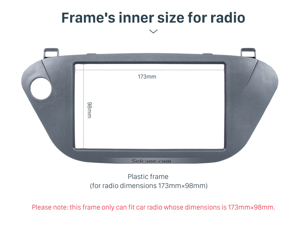 Seicane Popular 2 Din 2005 Toyota Vista Ardeo Car Radio Fascia Dash Kit Trim Bezel Car refitting DVD frame