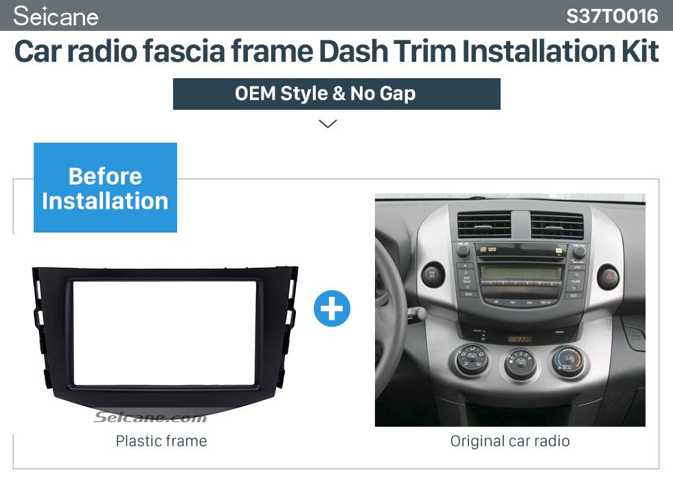 Seicane Excellent Double Din 2006-2012 TOYOTA RAV4 Car Radio Fascia Audio Player DVD panel Frame Auto Stereo CD