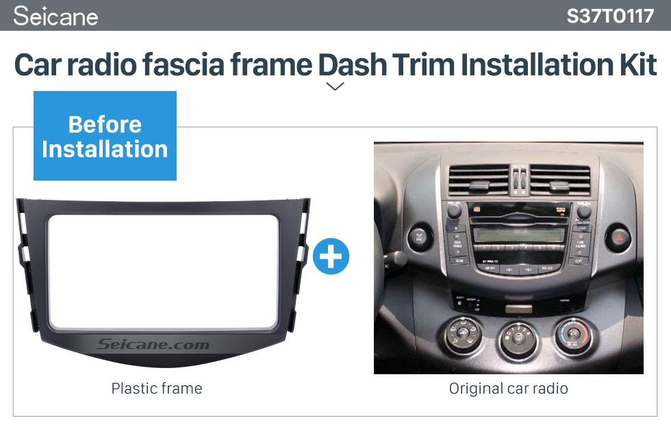 Seicane Well-made Double Din 2006-2012 TOYOTA RAV4 Car Radio Fascia Stereo Player Surround Panel CD Trim Installation Frame