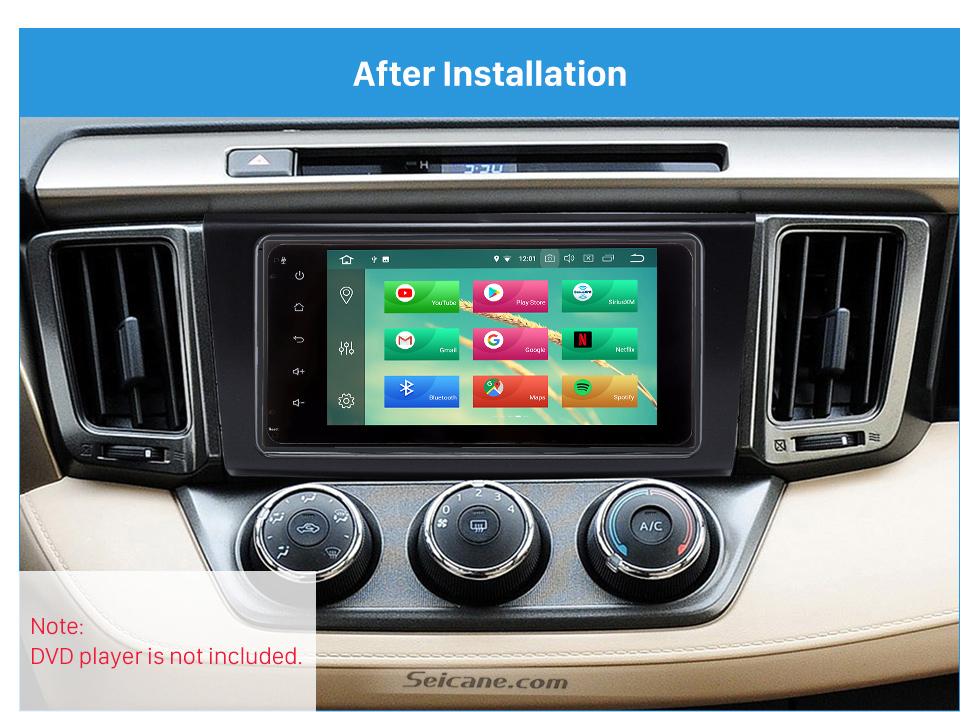 After Installation Classy 2Din 2013 TOYOTA RAV4 Car Radio Fascia Audio Fitting Adaptor Install Frame DVD Stereo Player