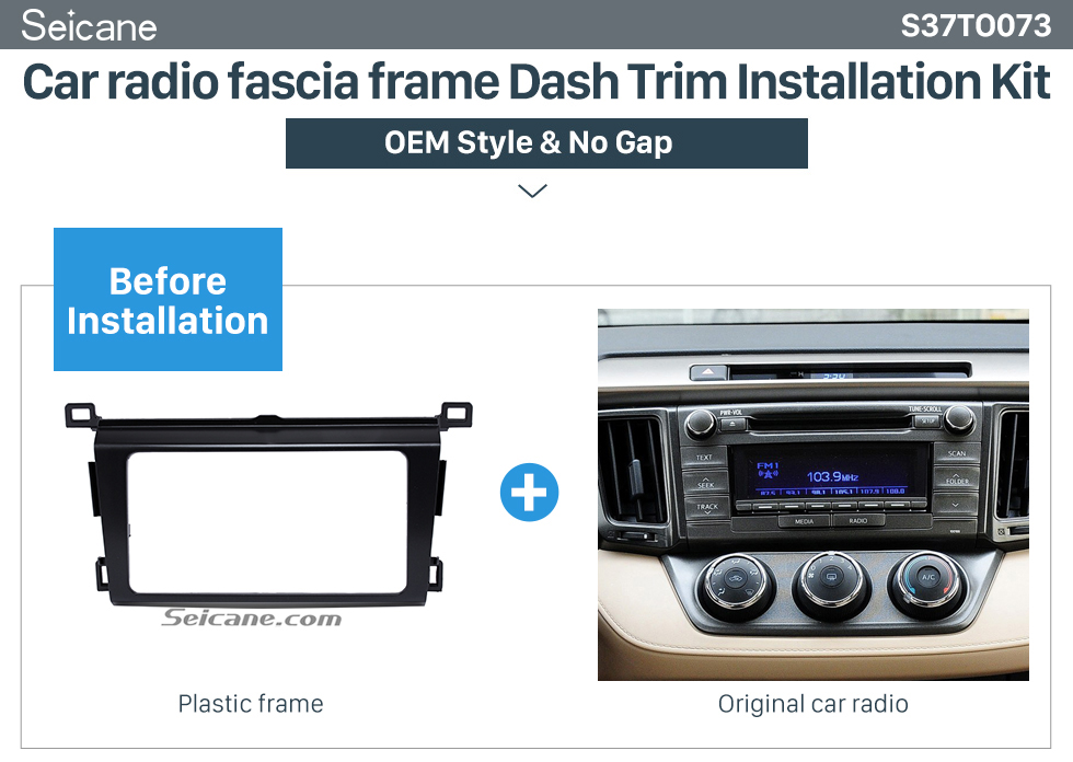 Car radio fascia frame Dash Trim Installation Kit  Classy 2Din 2013 TOYOTA RAV4 Car Radio Fascia Audio Fitting Adaptor Install Frame DVD Stereo Player