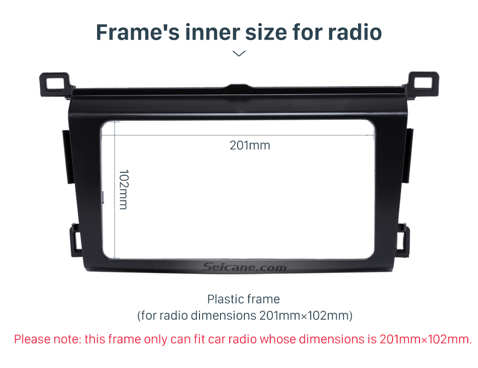 Frame's inner size for radio Classy 2Din 2013 TOYOTA RAV4 Car Radio Fascia Audio Fitting Adaptor Install Frame DVD Stereo Player