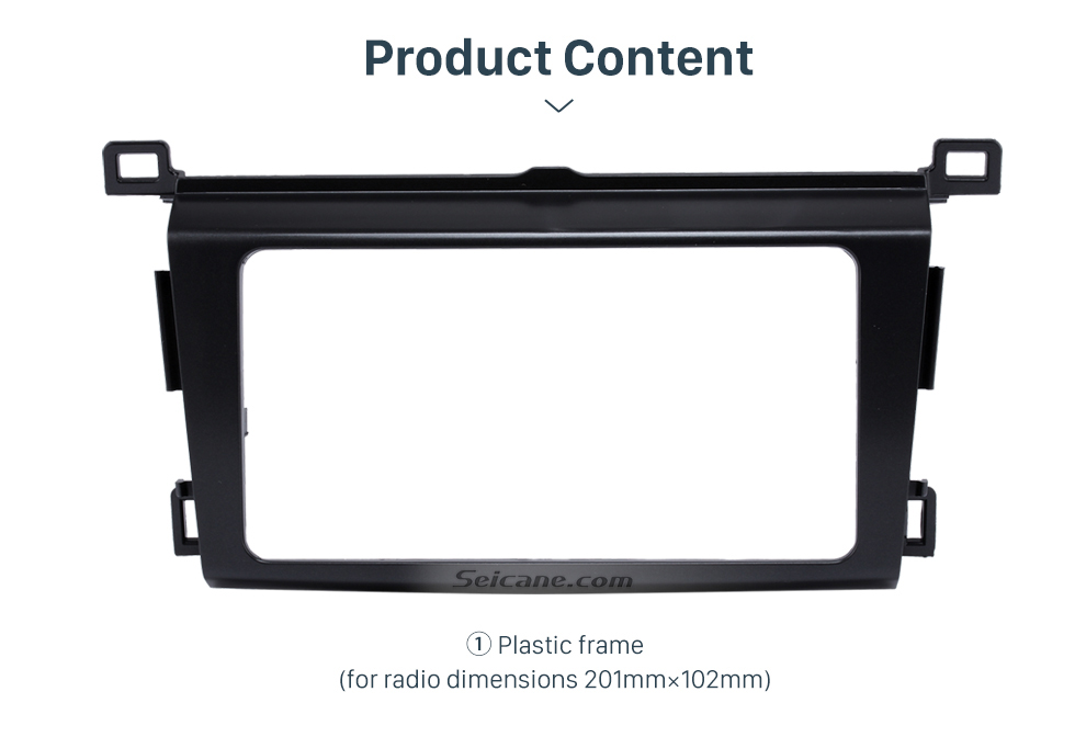 Product Content Classy 2Din 2013 TOYOTA RAV4 Car Radio Fascia Audio Fitting Adaptor Install Frame DVD Stereo Player