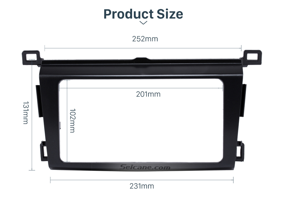 Product Size Classy 2Din 2013 TOYOTA RAV4 Car Radio Fascia Audio Fitting Adaptor Install Frame DVD Stereo Player