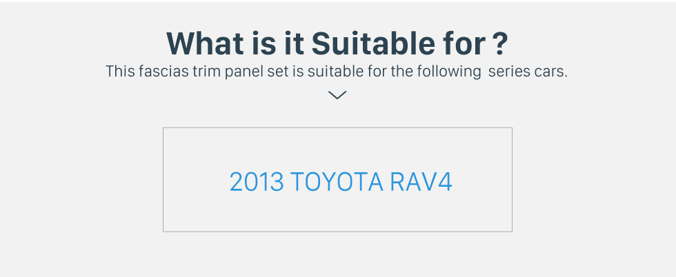 What is it Suitable for? Classy 2Din 2013 TOYOTA RAV4 Car Radio Fascia Audio Fitting Adaptor Install Frame DVD Stereo Player