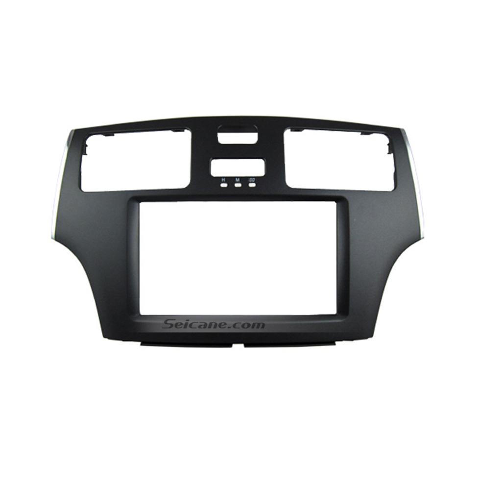 Seicane Black 2Din 2008 Toyota Windom ES300 Car Radio Fascia Stereo Dash CD Trim Installation Face Plate Panel