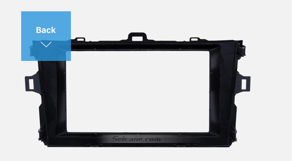 Seicane Black Double Din 2008 2009 2010 Toyota Corolla Car Radio Fascia Stereo Dash Kit Audio Player Panel Plate Frame