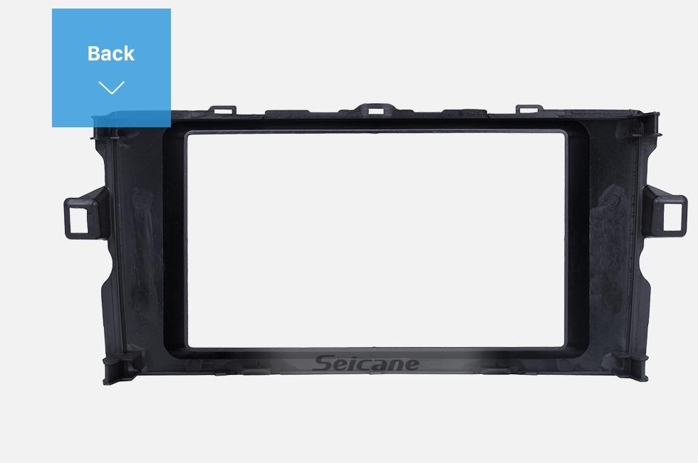 Seicane Elegant Double Din 2011 Toyota Auris Car Radio Fascia Trim Bezel Frame Panel Stereo Dash Kit Installation