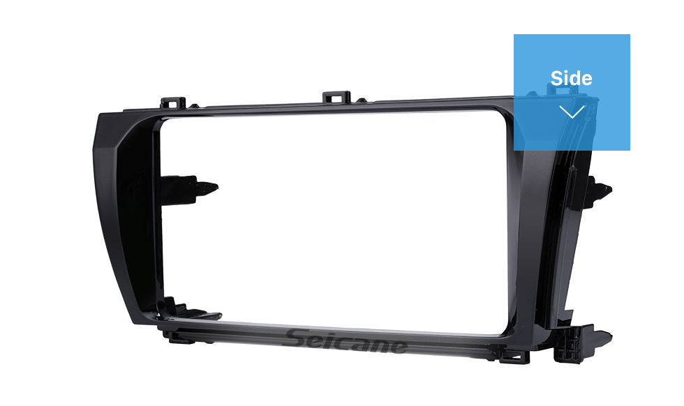 Seicane New Double Din Car Radio Fascia for 2013 2014 Toyota Corolla Altis Levin LHD Stereo Player Surround Panel Trim Bezel Installation Frame