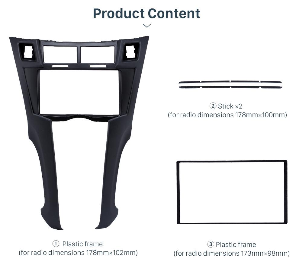 Product Content Black 2Din 2005-2011 Toyota Yaris Vitz Platz Car Radio Fascia Stereo Dash Trim Installation Fitting Frame