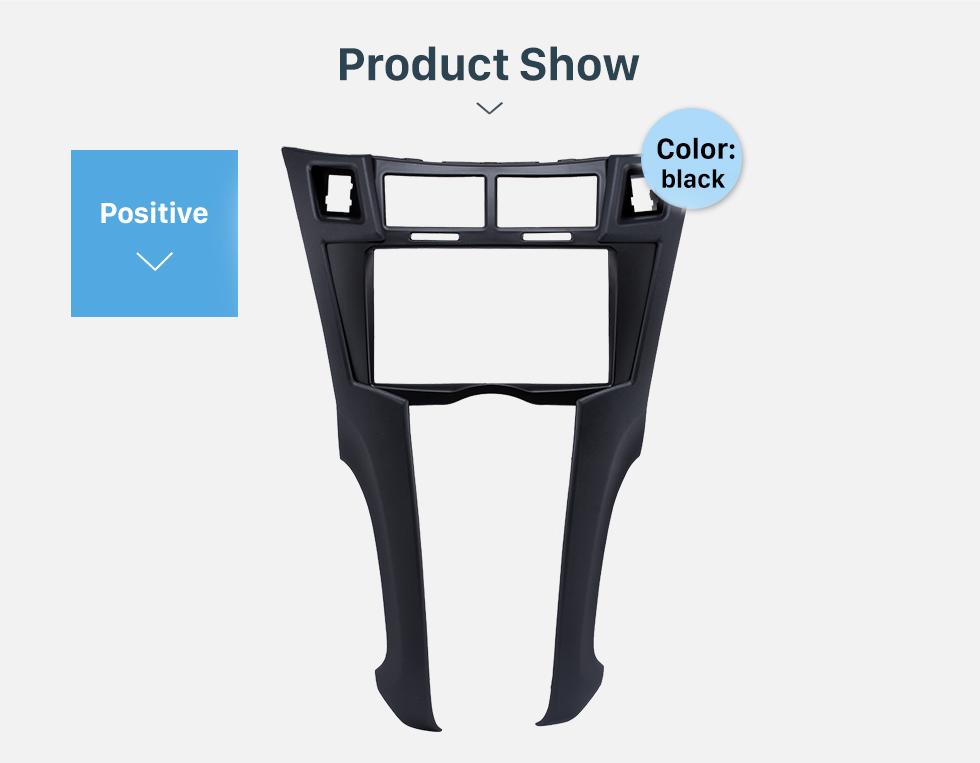 Product Show Black 2Din 2005-2011 Toyota Yaris Vitz Platz Car Radio Fascia Stereo Dash Trim Installation Fitting Frame
