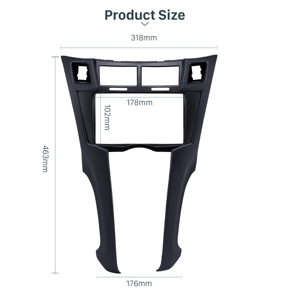 Product Size Black 2Din 2005-2011 Toyota Yaris Vitz Platz Car Radio Fascia Stereo Dash Trim Installation Fitting Frame
